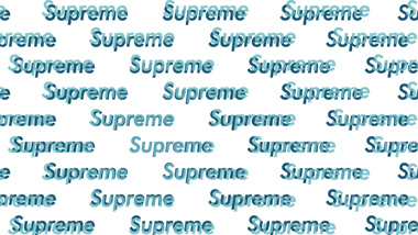Supreme Blue Text